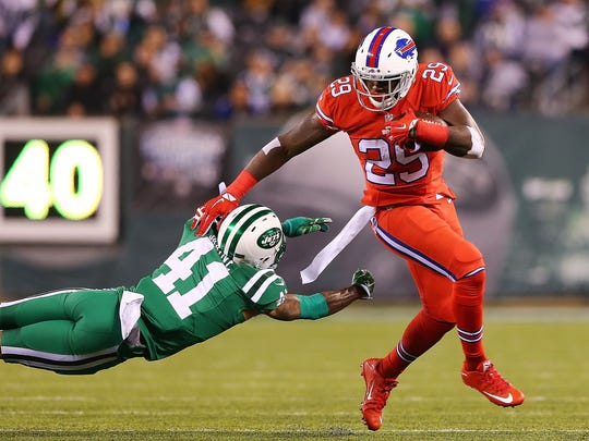 Karlos Williams scored a touchdown for the sixth straight game last week against the Jets.