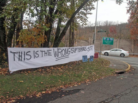 This sign went up in November 2014 opposing the state's plan to put the entry point of the bike-walking path for the new Tappan Zee Bridge at the corner of Cornelison Avenue and South Broadway in South Nyack. The Thruway Authority eventually agreed to move it out of the residential neighborhood.