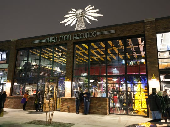 The exterior of the Third Man Records store is seen during the 43rd annual Noel Night on Saturday, Dec. 5, 2015.