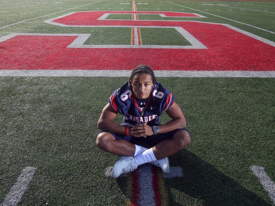 T.J. Morrison of Stepinac High School is the 2015 Westchester/Putnam football player of the year. He was photographed Dec. 10, 2015.