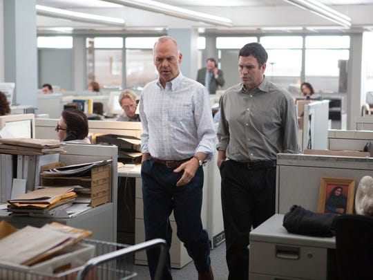 Michael Keaton (left) and Mark Ruffalo in a scene from