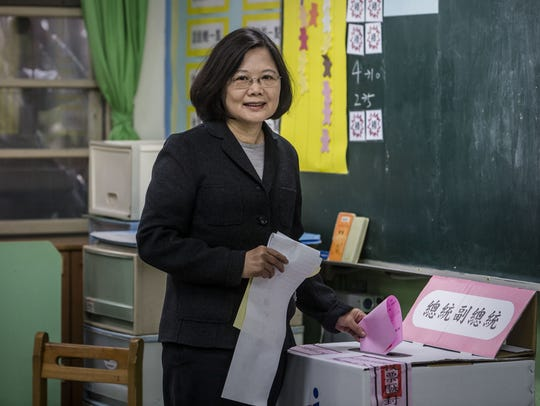 Taiwan elects pro-independence, first female president