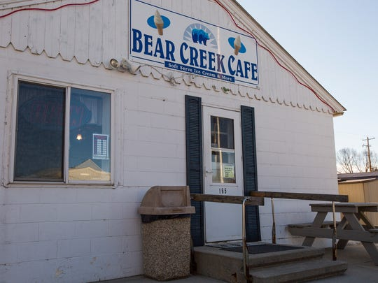 The Bear Creek Cafe in Wyoming, Iowa, Monday, Jan. 18, 2016. The town of Wyoming, Iowa is evenly divided between republican and democratic voters.
