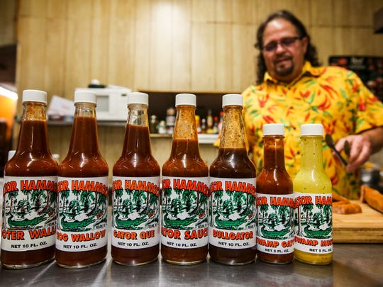 Gator Hammock was started by Buddy Taylor after years of fine tuning a wing sauce when cooking for friends after a long day of playing softball. Taylor finally hit the right combination of aged cayenne peppers, garlic, vinegar and other spices in 1989 and called it Gator Hammock Gator Sauce and has continued to  innovative sauces and condiments from his original sauce.