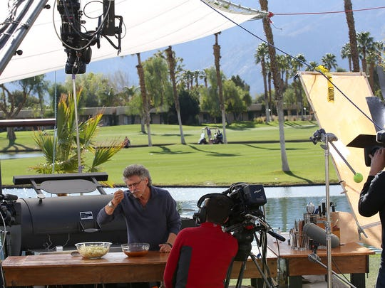 Steven Raichlen hosts Project Smoke, which was being filmed at the Doubletree Resort in Cathedral City, February 2, 2016.