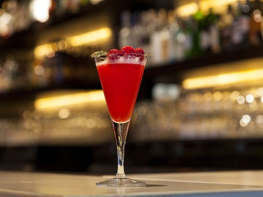 Raspberry Martini from Paul Martin's American Grill in Scottsdale.