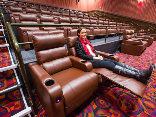 Madelyn Rybczyk Demonstrates The Reclining Seats At