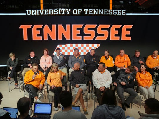 All 16 University of Tennessee athletic coaches appeared