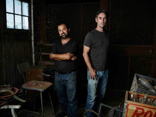 """Frank Fritz, Mike Wolfe and their team from the TV show 'American Pickers"""" will film episodes of the hit History channel series in New York in May."""