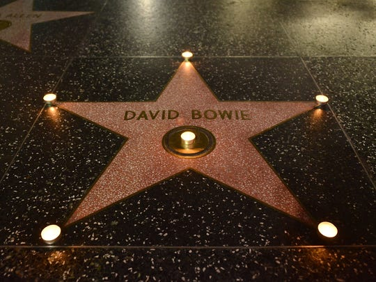 David Bowie was remembered on the Hollywood Walk of Fame earlier this year.