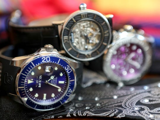 A few of Dr. Saleem Seyal's watches that he looks to