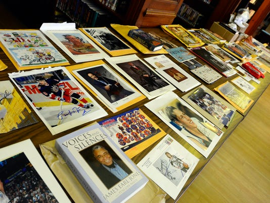 Martin Library celebrity auction