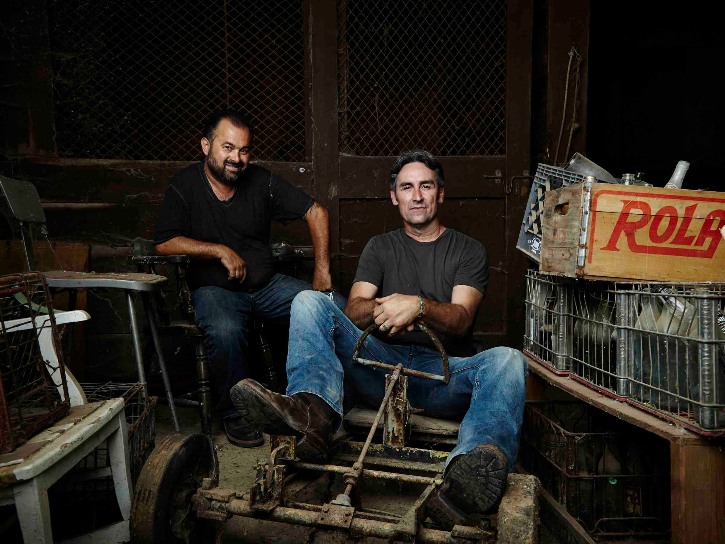 "Frank Fritz (left) and Mike Wolfe (right) are the Pickers on History Channel's ""American Pickers."""