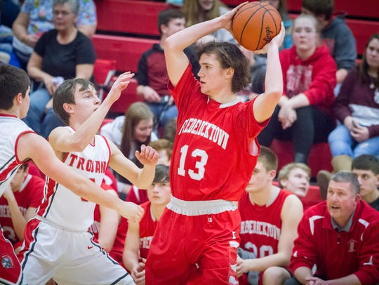 Fredericktown's Kirk Manns led the area in scoring