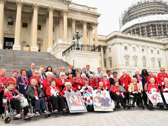 "The original ""Rosie the Riveters"" visited the Capitol"