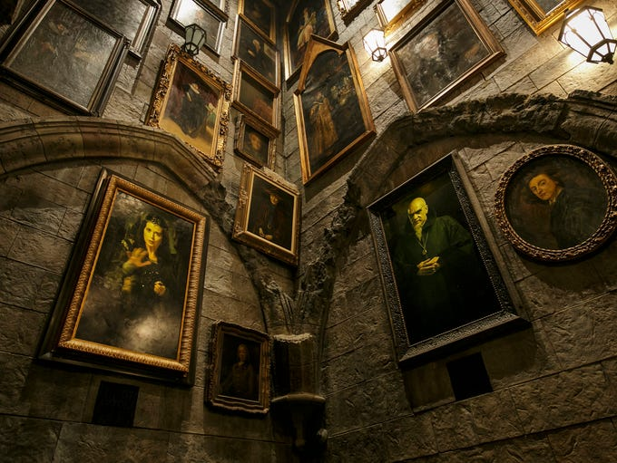 The Portrait Gallery located inside Hogwarts castle.