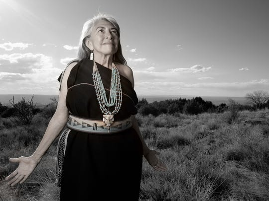 Mary Evelyn of the Isleta Pueblo in New Mexico is featured in a photo by Matika Wilbur.