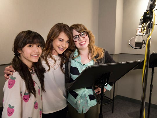 Kristen Li (Bubbles), Amanda Leighton (Blossom) and Natalie Palamides (Buttercup) are the new voices of 'The Powerpuff Girls.'