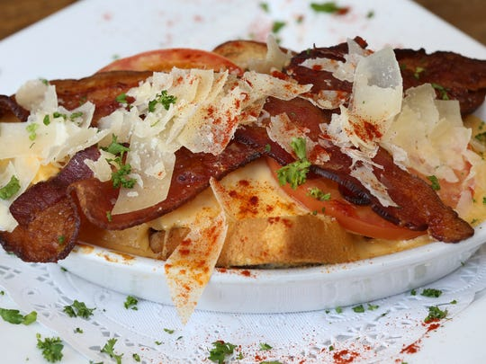 The Kentucky Hot Brown served at the Derby Cafe. Apr.