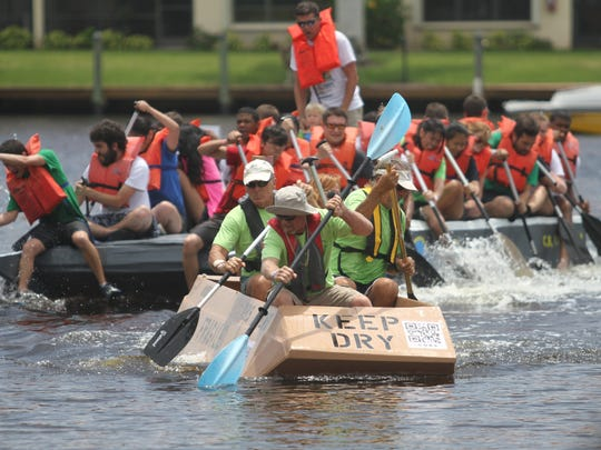 The annual Cape Coral Cardboard Boat Regatta was held