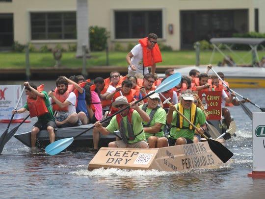 The annual Cape Coral Cardboard Boat Regatta was held