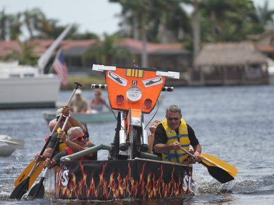 The annual Cape Coral Cardboard Boat Regatta was held Saturday at Four Freedoms Park in Cape Coral. It is a club project of the Cape Coral Rotary Club.