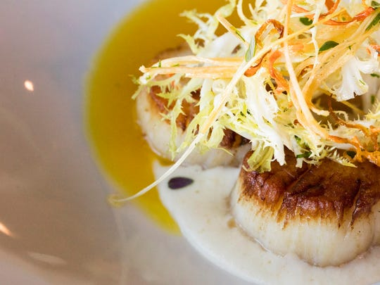 Butchertown Grocery's diver scallops: parsnips, fried