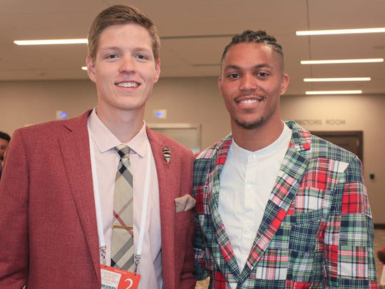 Jax Levitch and Damion Lee during the 2016 Kentucky Derby. May 7, 2016