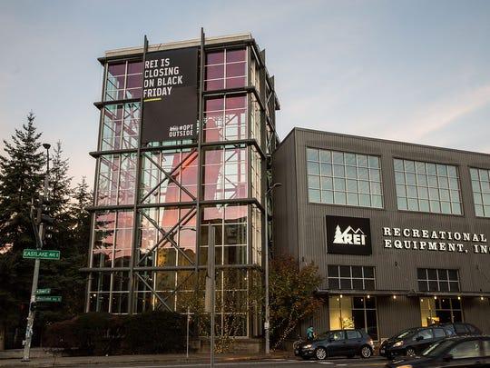 Specialty Outdoor Retailer REI store in Seattle, WA.