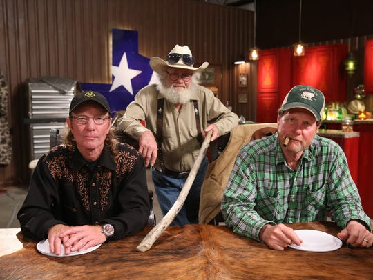 "Butch Gilliam, left, Gil Prather and Rooster McConaughey of CNBC's ""West Texas Investors Club."""