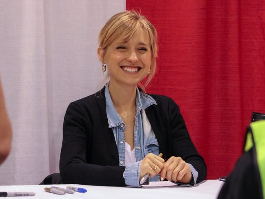 "Actress Allison Mack, form the television series ""Smallville,"""