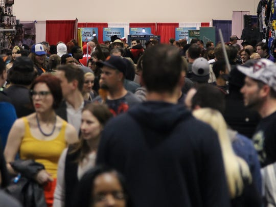 Thousands of fans filled the Suburban Collection Showplace