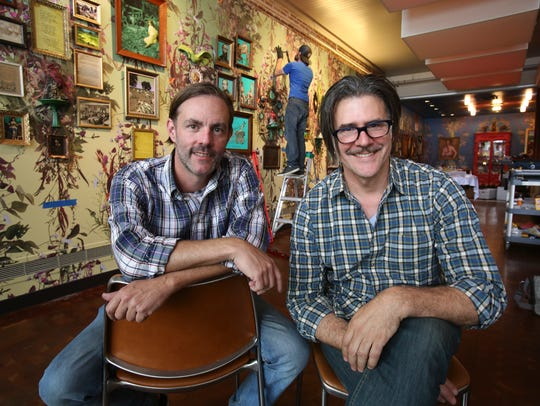 David Burns, left, and Austin Young are artists with