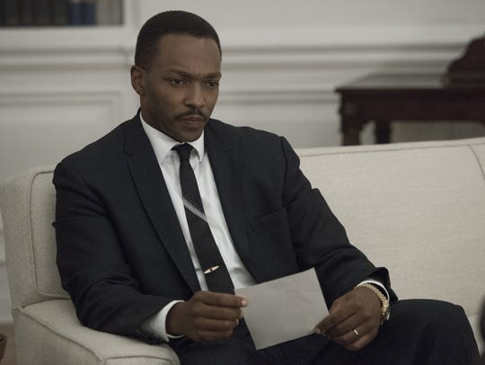 Anthony Mackie plays Dr. Martin Luther King Jr. in