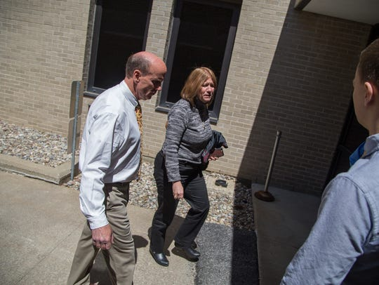 Cal Harris enters Schoharie County Court prior to closing