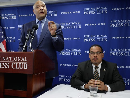 The only two Muslim members of Congress, Rep. Andre Carson, D-Ind., and Rep. Keith Ellison, D-Minn., criticized a U.S. Supreme Court ruling that upheld President Donald Trump's travel ban on Muslim-majority countries.