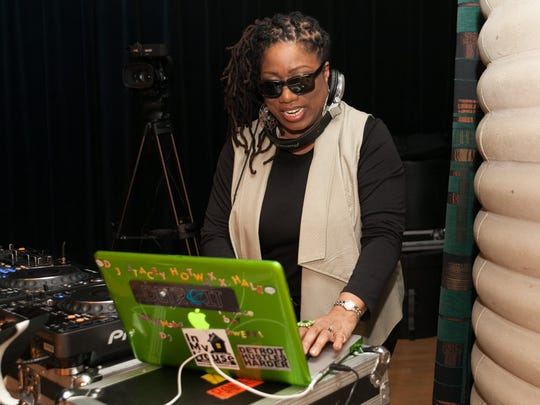 Renowned Detroit DJ Stacey (Hotwaxx) Hale worked the turntables during Black Women Rock at the Charles H. Wright Museum on Saturday, March 7, 2015.