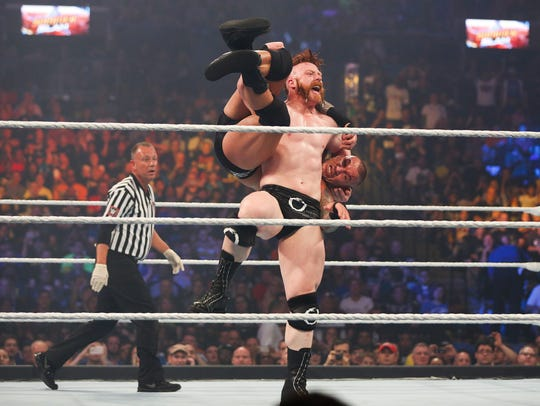 NEW YORK, NY - AUGUST 23:  Sheamus and Randy Orton