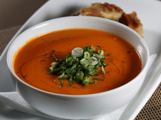 The tomato-kaffir soup served at the Wiltshire at the Speed. May 26, 2016