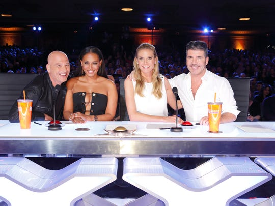 Returning 'America's Got Talent' judges Howie Mandel, left, Mel B and Heidi Klum will be joined by Simon Cowell on Season 11 of the NBC talent show.