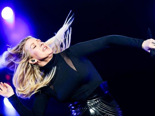 Ellie Goulding performs in Los Angeles earlier this