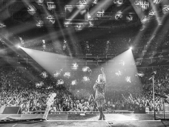 Carrie Underwood headlines at the O2 Arena in London.