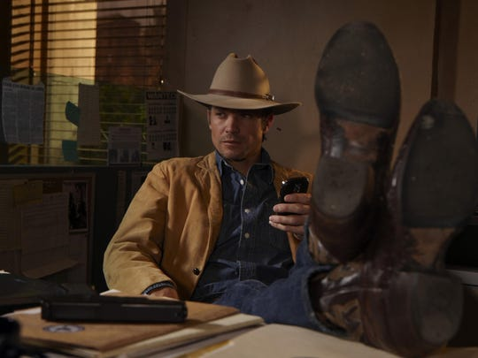 "Timothy Olyphant played U.S. Marshal Raylan Givens on six seasons of ""Justified."""