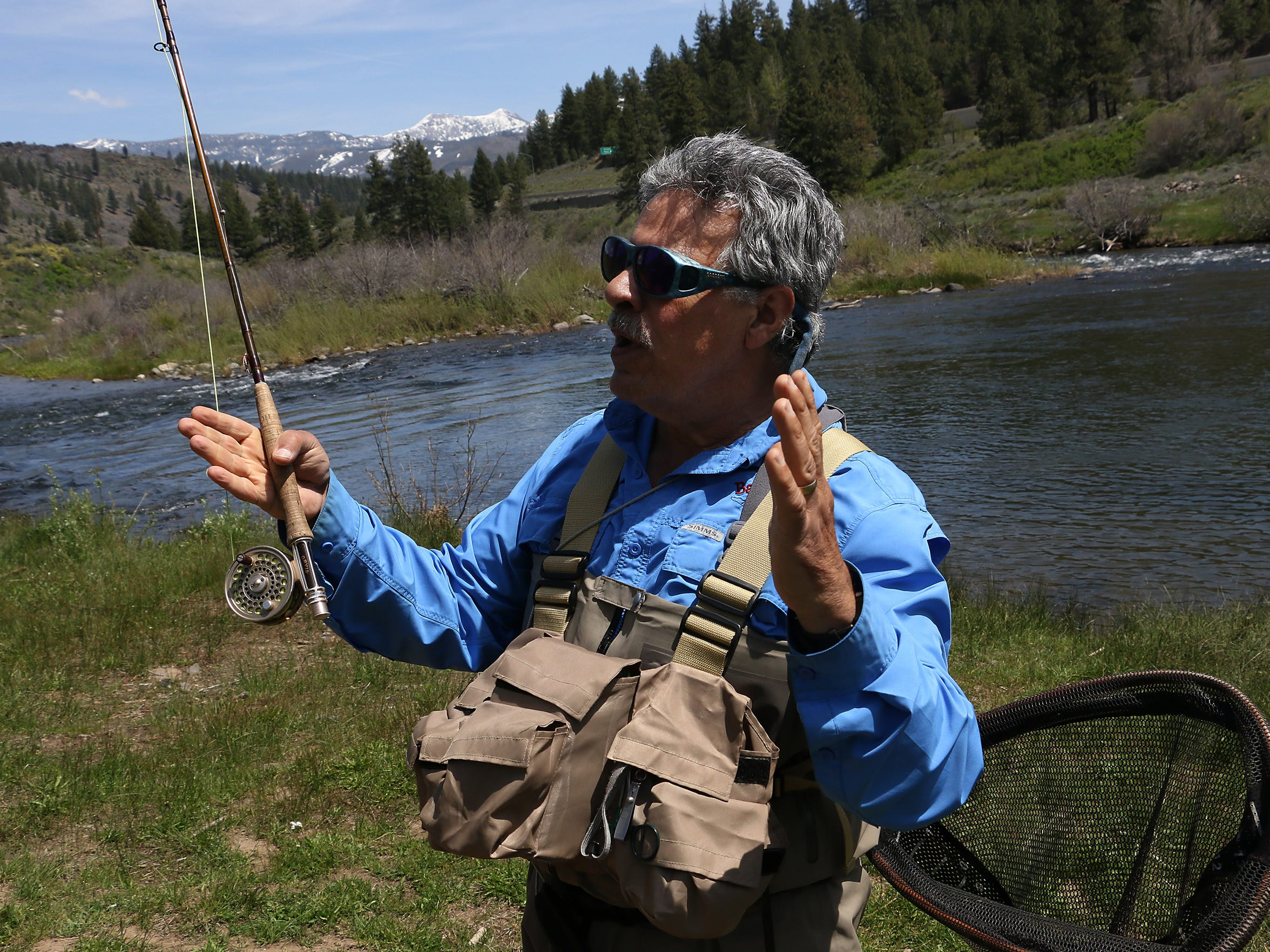 Fishing guide Frank Pisciotta has been fishing on the Truckee River since 1979. RGJ reporters Ben Spillman and Jason Bean paddle the Truckee River from Truckee to Pyramid Lake during May of 2016.