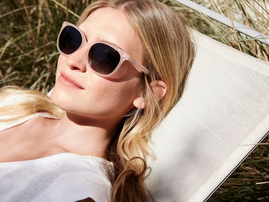 Warby Parker sells eyeglasses and sunglasses.