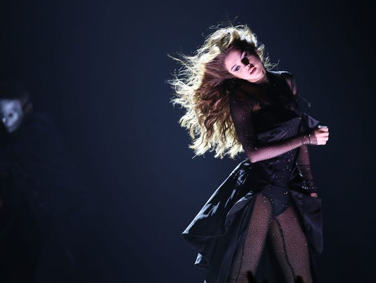 Selena Gomez performs on stage at the Prudential Center