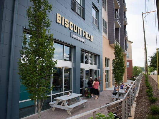 Biscuit Head opens its Greenville location at the corner of Church Street and University Ridge on Friday, July 1, 2016.