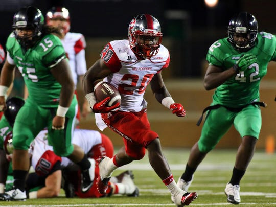 Western Kentucky Hilltoppers running back Anthony Wales (20.
