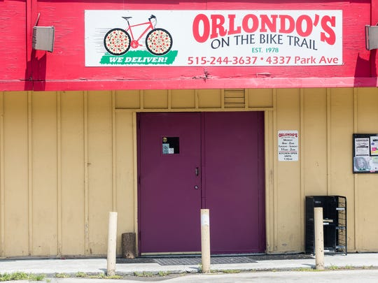 Orlondo's is an establishment located on the Great Western Trail. A recently made new trail connection allows riders to go from downtown to Gray's Lake to Carney Park to Orlondo's and beyond on the Great Western Trail in Des Moines, Sunday, July 10, 2016.