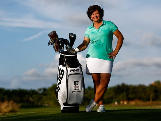 Former LPGA Tour player Gail Graham stands for a portrait